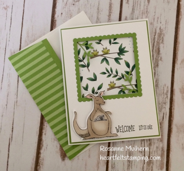 Stampin Up Animal Outing Baby Card Idea - Rosanne Mulhern Heartfelt Stamping