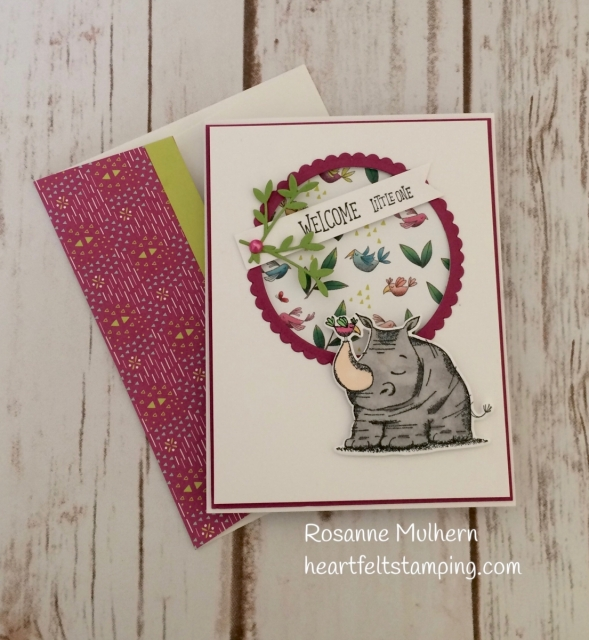 Stampin Up Animal Outing Baby Card - Rosanne Mulhern Heartfelt Stamping