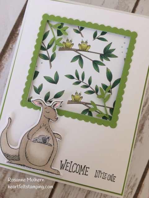 Stampin Up Animal Outing Baby Card - Rosanne Mulhern - Heartfelt Stamping
