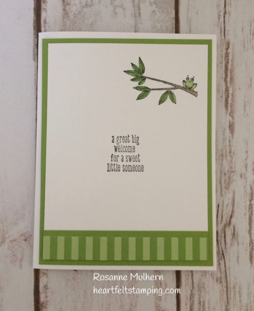 Stampin Up Animal Outing Baby Cards - Rosanne Mulhern Heartfelt Stamping