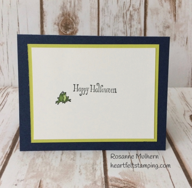 Stampin Up Cauldron Bubble Halloween Card -Rosanne Mulhern Heartfelt Stamping