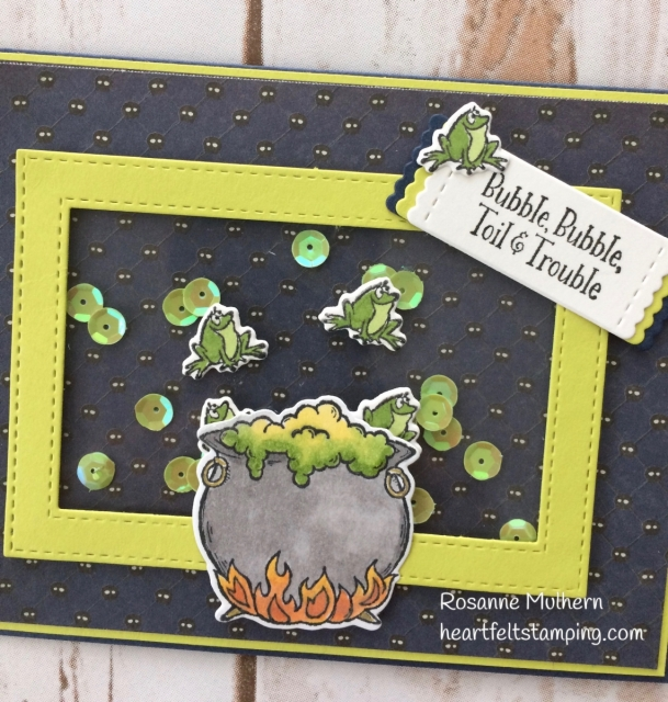 Stampin Up Cauldron Bubble Halloween Cards- Rosanne Mulhern Heartfelt Stamping