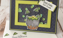 Stampin Up Cauldron Bubble Halloween Cards - Rosanne Mulhern Heartfelt Stamping