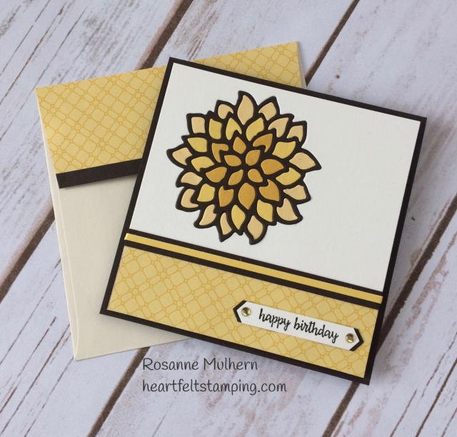 Stampin Up May Flowers Fall Birthday Card Idea - Rosanne Mulhern Heartfelt Stamping