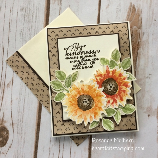 Stampin Up Painted Harvest Thank You Card - Rosanne Mulhern Heartfelt Stamping