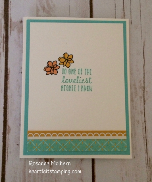 Stampin Up Time for Tea Friendship Card Idea - Rosanne Mulhern Heartfelt Stamping