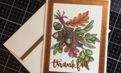Power Poppy Olive & Oak Thank you card - Rosanne Mulhern Heartfelt Stamping