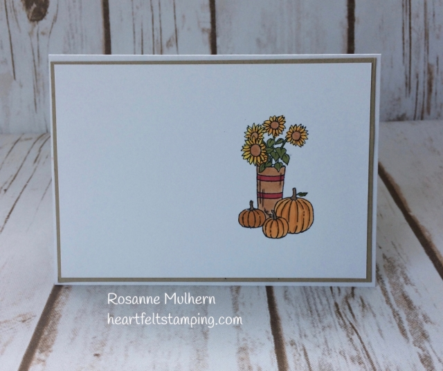 Stampin Up At Home With You Thank You Card-Rosanne Mulhern Heartfelt Stamping