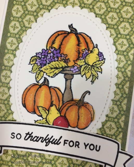 Thanksgiving Card - Rosanne Mulhern Heartfelt Stamping