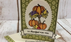 Thanksgiving Card - Rosanne Mulhern - Heartfelt Stamping