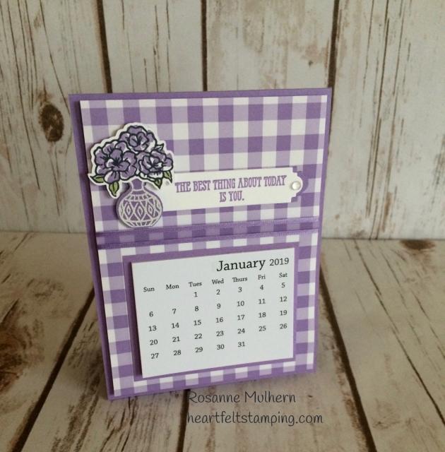 Stampin Up Vibrant Vases Calendar Rosanne Mulhern Heartfelt Stamping