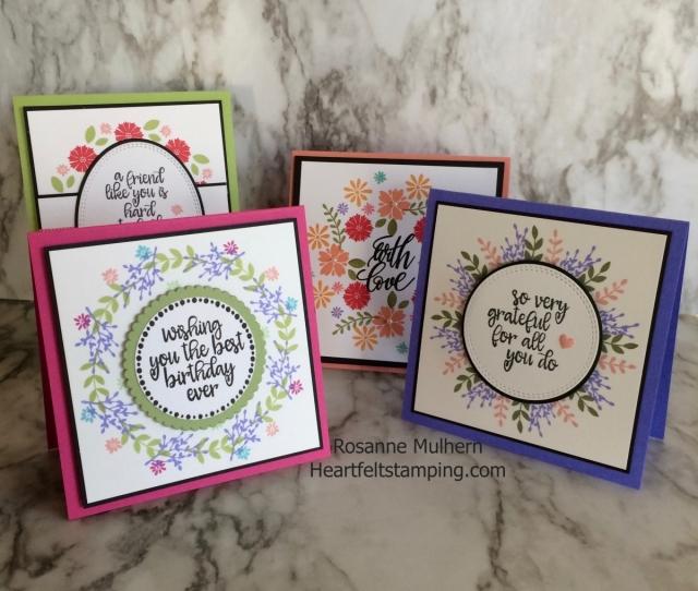 Gina K Wreath Builder Cards - Rosanne Mulhern Heartfelt Stamping