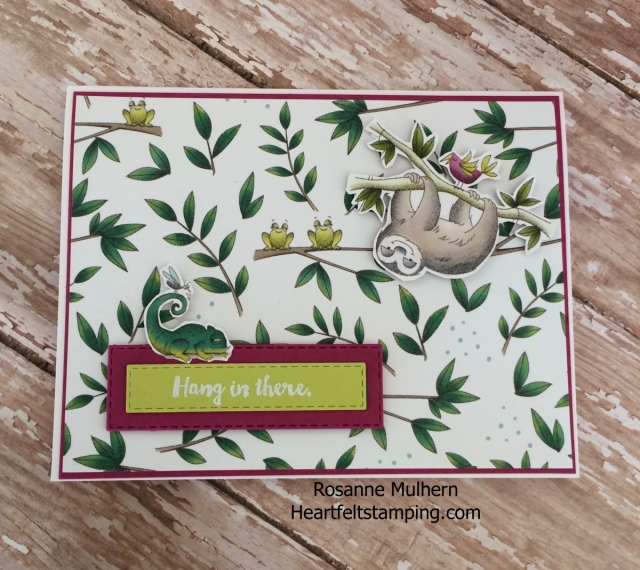Stampin Up Animal Expedition Encouragement Card -Rosanne Mulhern Heartfelt Stamping