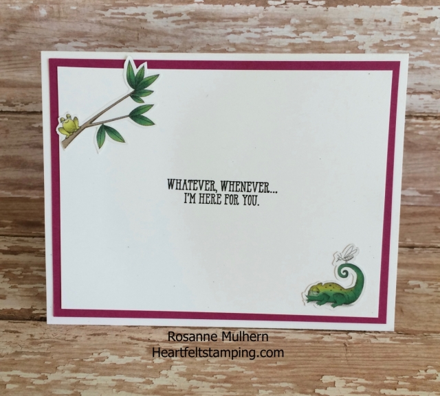 Stampin Up Animal Expedition Encouragement Card Rosanne Mulhern Heartfelt Stamping