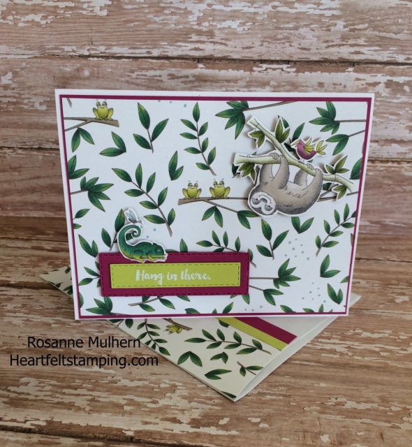 Stampin Up Animal Expedition Encouragement Card- Rosanne Mulhern Heartfelt Stamping