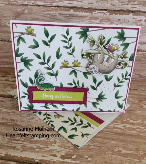 Stampin Up Animal Expedition Encouragement Card - Rosanne Mulhern Heartfelt Stamping
