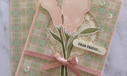 Stampin Up Lasting Lily Friendship card - Rosanne Mulhern Heartfelt Stamping