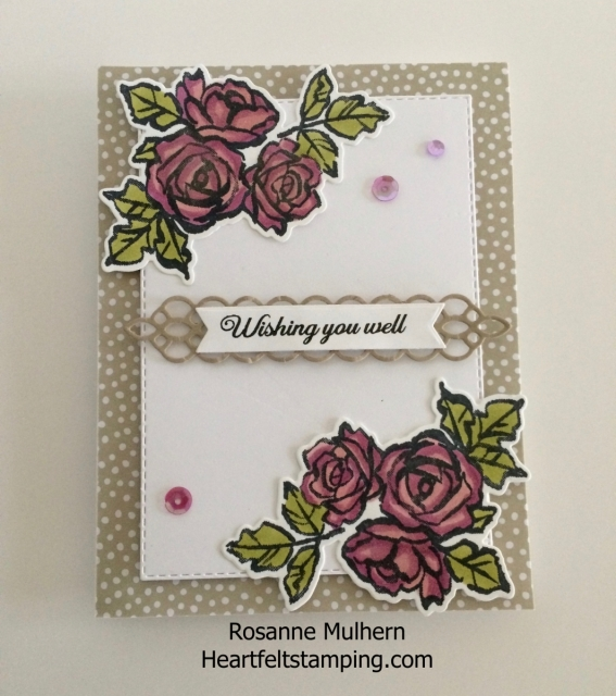 Stampin Up Petal Palette Thinking of You Card - Rosanne Mulhern Heartfelt Stamping