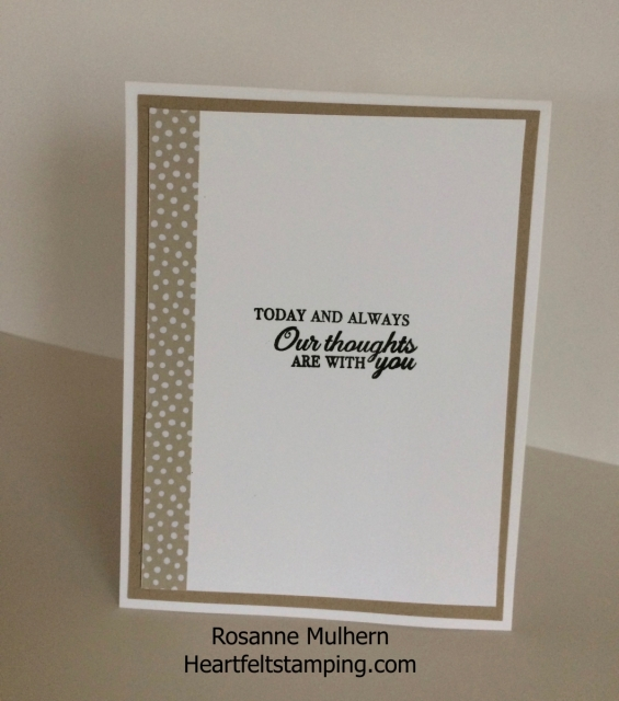 Stampin Up Petal Palette Thinking of You Card- Rosanne Mulhern Heartfelt Stamping