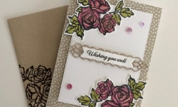 Stampin Up Petal Palette Thinking of You Card -Rosanne Mulhern Heartfelt Stamping