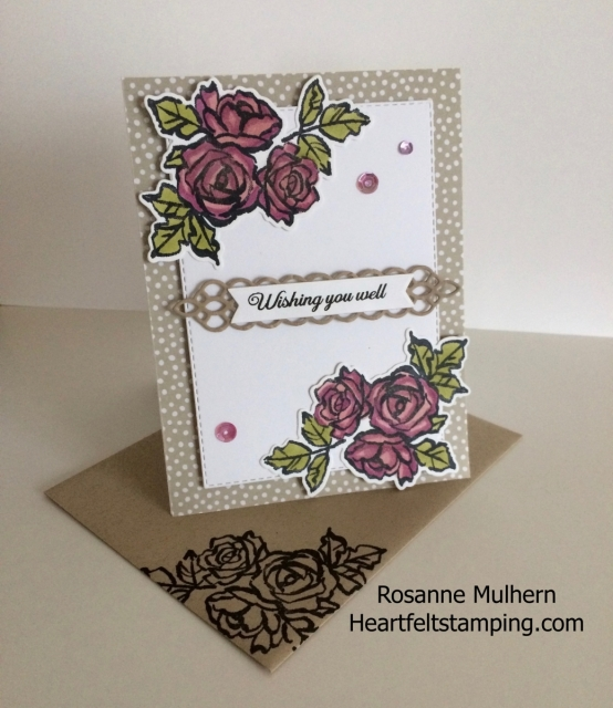 Stampin Up Petal Palette Thinking of You Card-Rosanne Mulhern Heartfelt Stamping