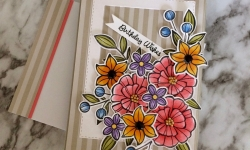Stampin Up Falling Flowers Birthday Card Idea - Rosanne Mulhern Heartfelt Stamping