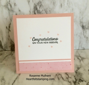 Baby Card - Rosanne Mulhern Heartfelt Stamping