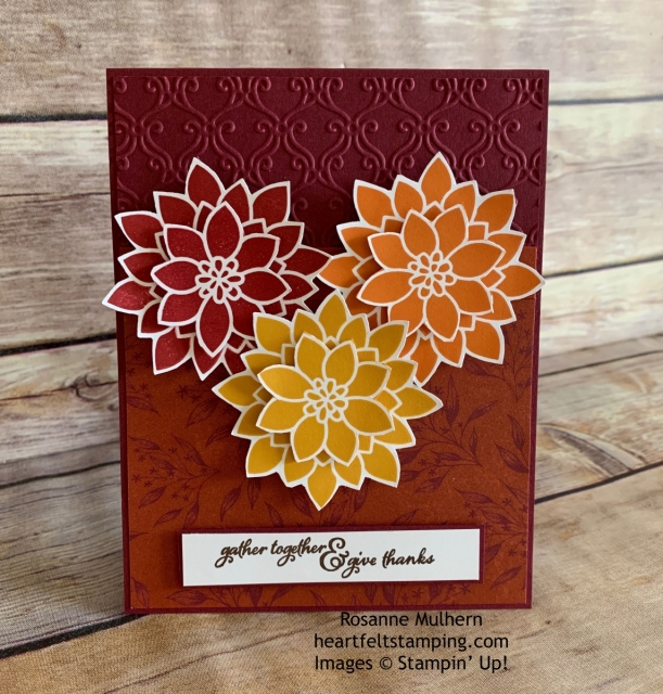 Stampin Up Flourishing Phrases Thanksgiving Card Idea -Rosanne Mulhern stampinup