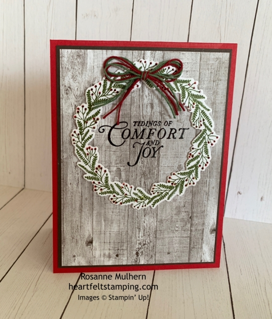Stampin Up Tidings All Around Christmas Card Idea-Rosanne Mulhern stampinup