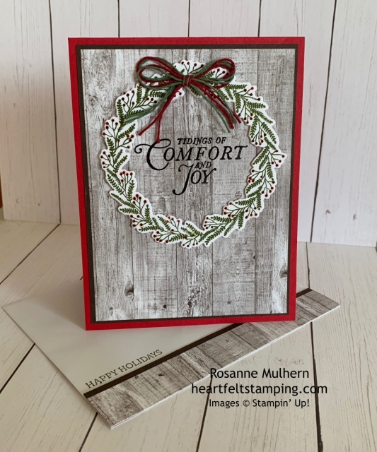 Stampin Up Tidings All Around Christmas Card Idea - Rosanne Mulhern stampinup