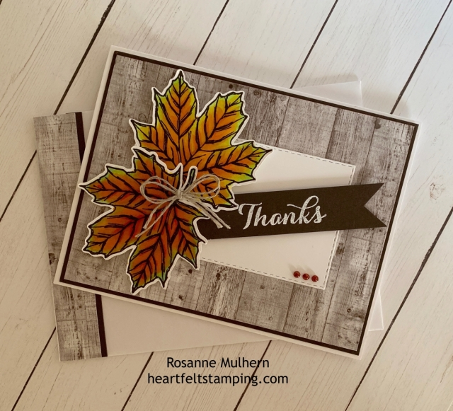 Stampin up Come to Gather Thank You card idea - Rosanne Mulhern stampinup