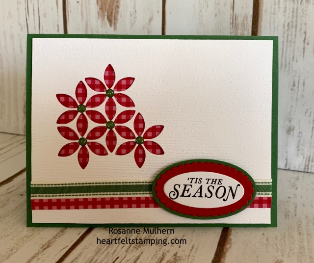Stampin up Tasteful Background Hello and Holiday Card Idea-Rosanne Mulhern stampinup
