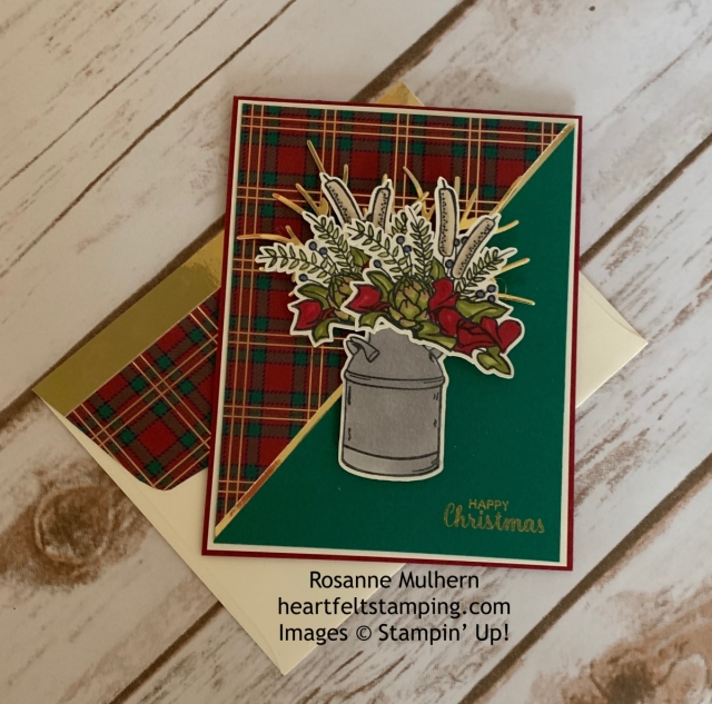 Stampin Up Country Home Wrapped in Plaid Christmas Card Ideas-Rosanne Mulhern stampinup