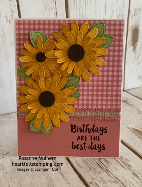 Stampin Up Daisy Lane Birthday Card Idea -Rosanne Mulhern stampinup