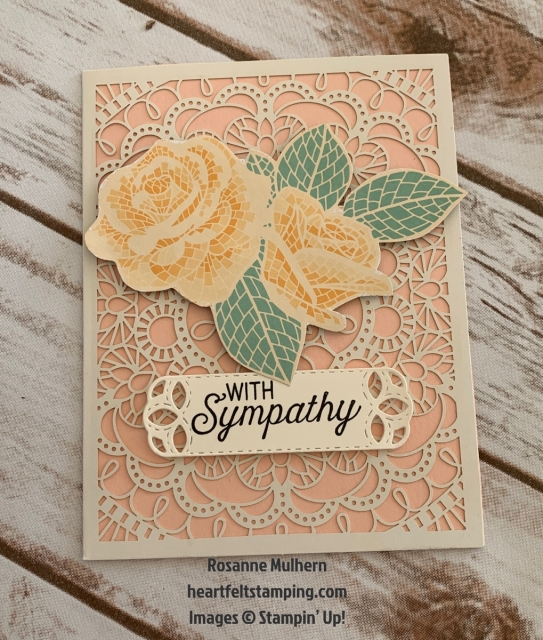 Stampin Up Mosiac Mood All Occasion Card Idea -Rosanne Mulhern stampinup