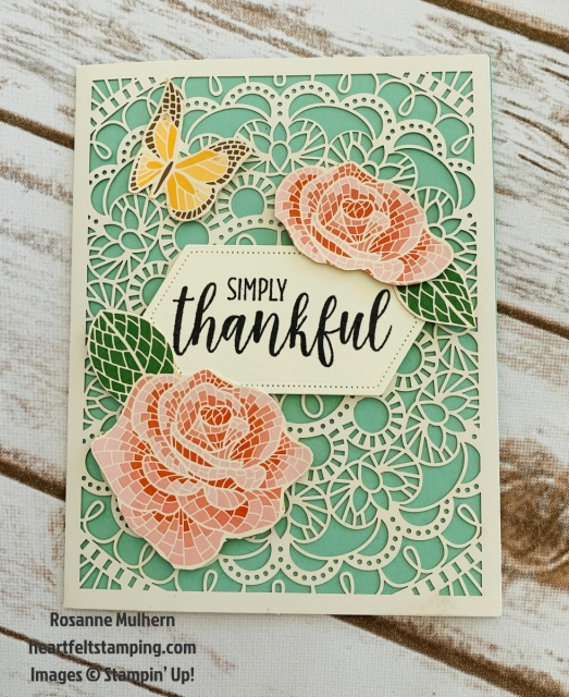 Stampin Up Mosiac Mood All Occasion Card Idea- Rosanne Mulhern stampinup