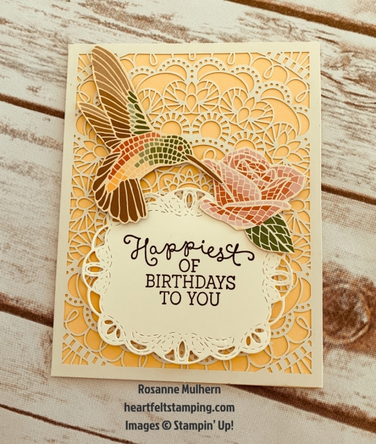 Stampin Up Mosiac Mood All Occasion Card Ideas - Rosanne Mulhern stampinup