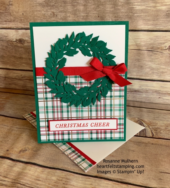 Tidings All Around Christmas Card Idea -Rosanne Mulhern stampinup