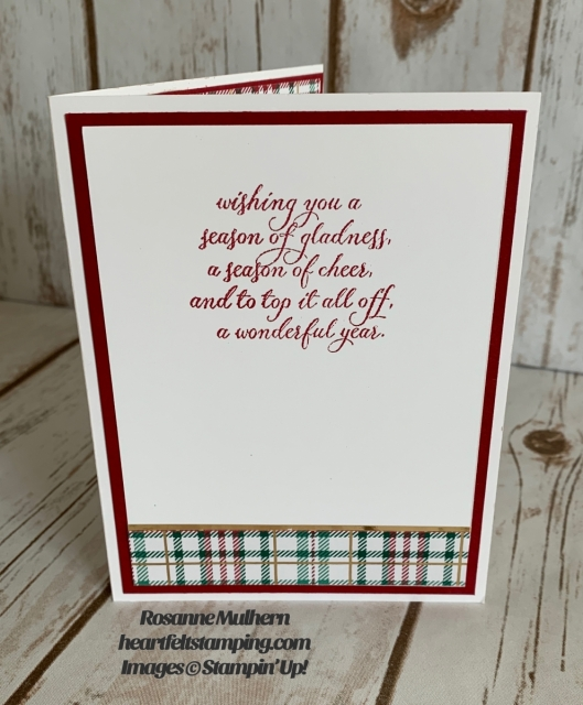 Stampin Up Brightly Gleaming Christmas Card Idea-Rosanne Mulhern stampinup