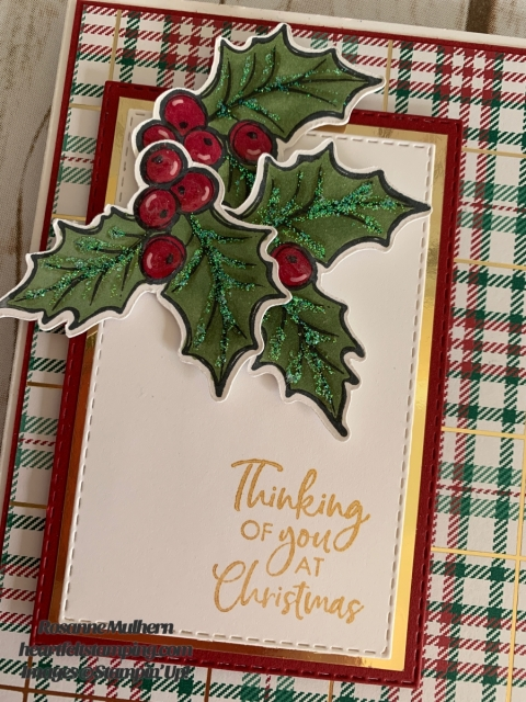 Stampin Up Brightly Gleaming Christmas Card Idea -Rosanne Mulhern stampinup