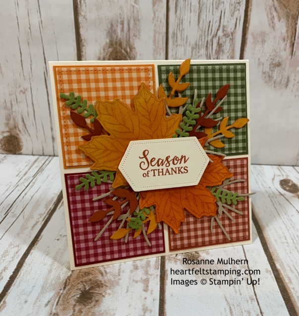 Stampin Up Gather Together Thanksgiving Card Idea -Rosanne Mulhern stampinup