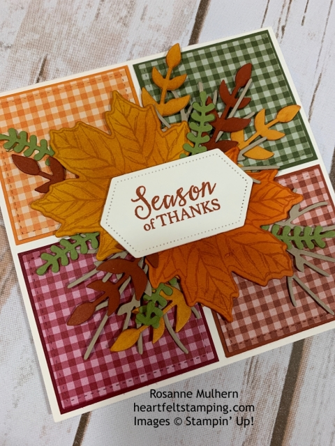 Stampin Up Gather Together Thanksgiving Cards Idea - Rosanne Mulhern stampinup