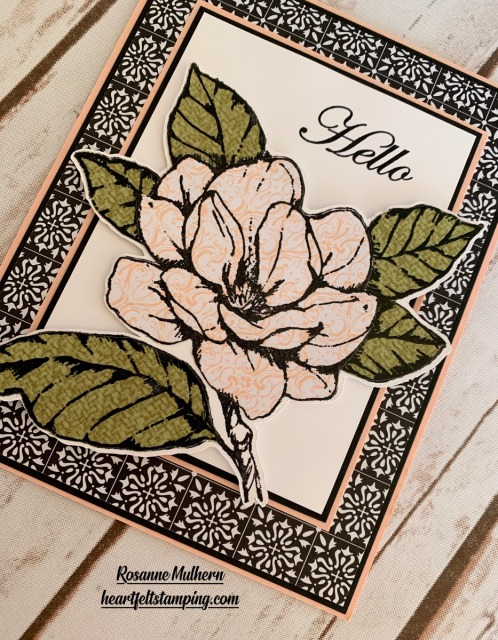 Good Morning Magnolia Thinking of You Card Idea - Rosanne Mulhern stampinup