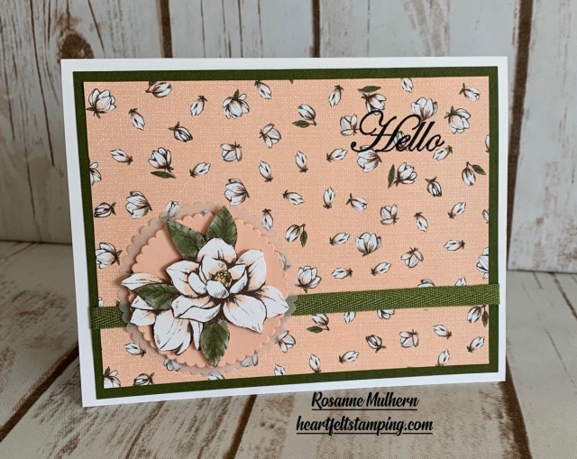 Stampin Up Good Morning Magnolia Hello Card Idea- Rosanne Mulhern stampinup