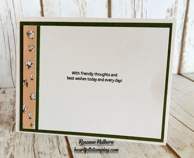 Stampin Up Good Morning Magnolia Hello Card Idea - Rosanne Mulhern stampinup