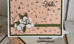 Stampin Up Good Morning Magnolia Hello Card Idea -Rosanne Mulhern stampinup