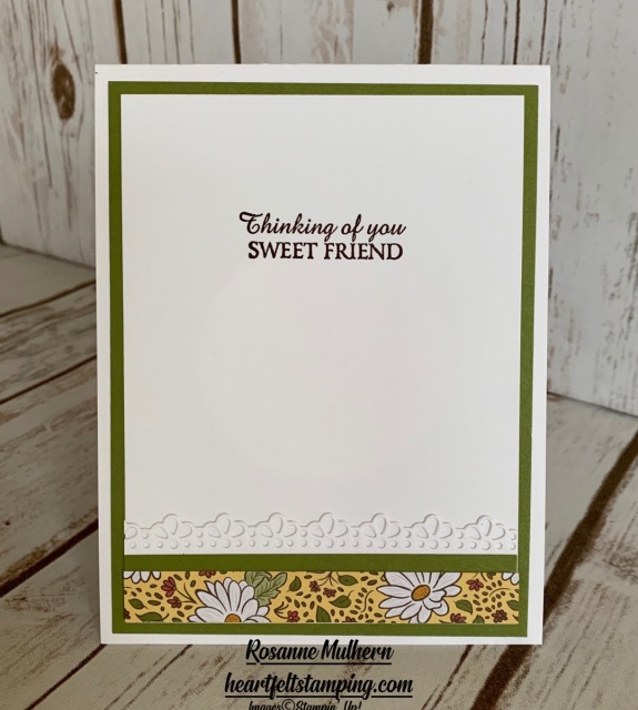 Stampin Up Ornate Garden Thinking of You Card Idea- Rosanne Mulhern stampinup