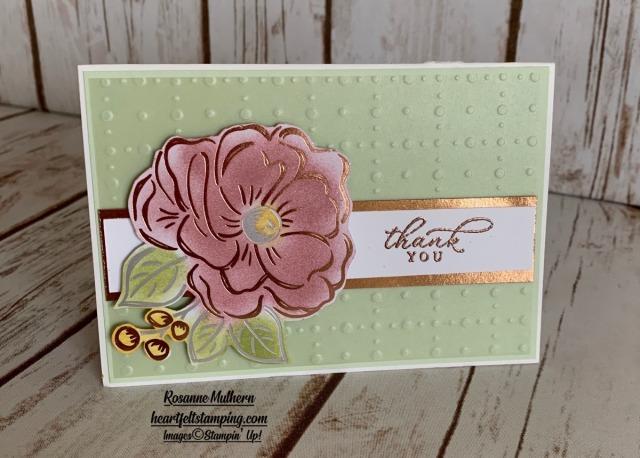 Stampin up Flowering Foils Note Cards- Rosanne Mulhern stampinup