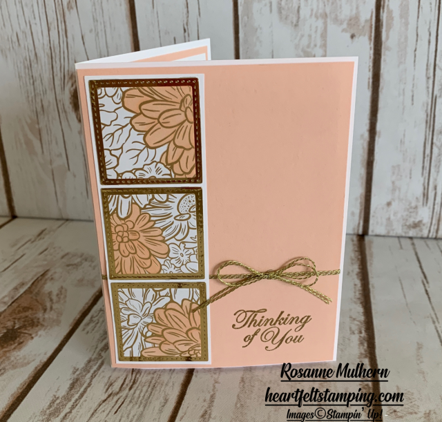 Petal Pink Peek with Ornate Garden Card Idea- Rosanne Mulhern stampinup