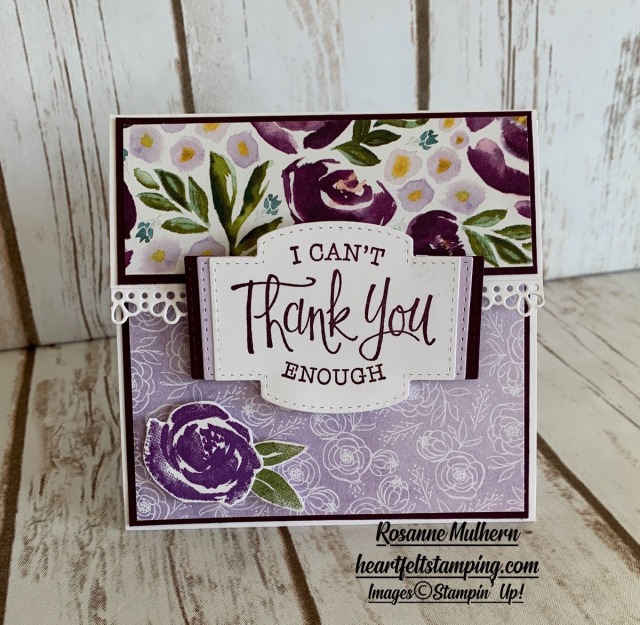 Special Occasion Gift Card Holders Idea - Rosanne Mulhern stampin up